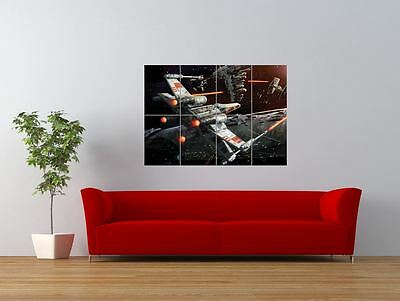 Star Wars X Wing Space Battle Spaceship Giant Wall Art Poster Print