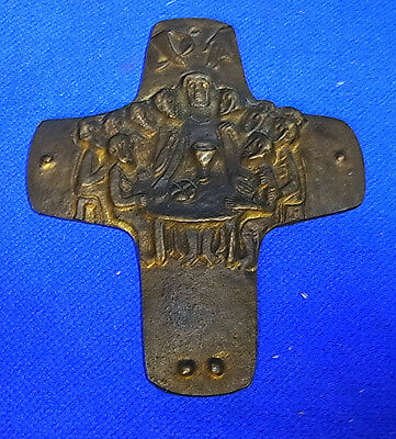 Vintage German Christianity Brass or Bronze Cross E. Weinert Time Inspirated #A