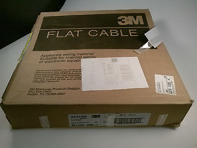 3M .025 80C Round 300' Gray 30 AWG Solid Flat Cable 3447/80 Flat Ribbon Cable