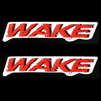 Sea Doo 204902055 Wake Red/black/white 12 1/2 X 2 5/8 Inch Vinyl Boat Decal Pair
