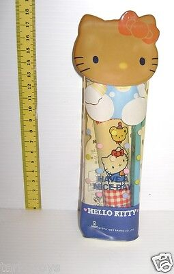 HELLO KITTY 1987 Sanrio Japan vintage  toothbrush kit - set denti viaggio