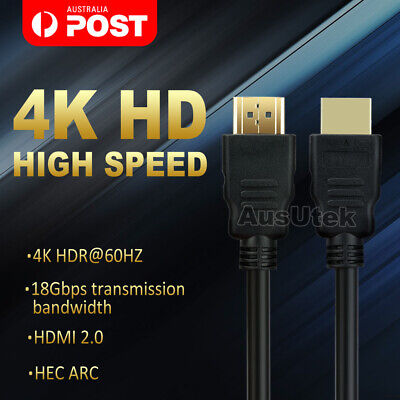 1M HDMI Cable v2.0 Ultra HD 4K 3D 2160p 1080p High Speed Ethernet HEC ARC
