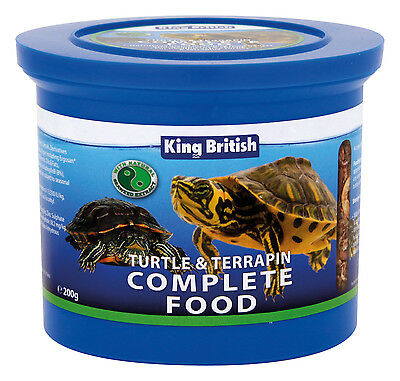 KING BRITISH TURTLE AND TERRAPIN FOOD (20g - 200g) pellets calcium vitamin shell