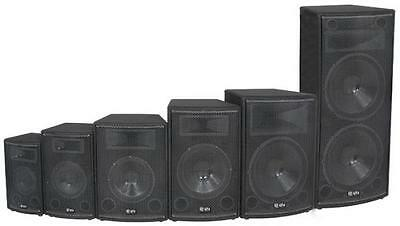 QTX 178.409 Disco PA Speaker Cabinet 12in 250w RMS Gold Plated Terminals - Black