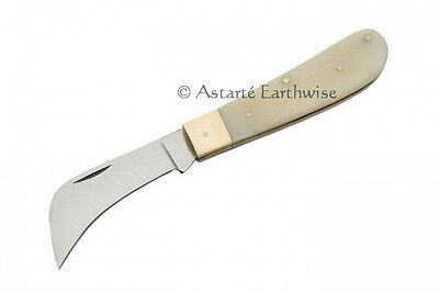 BOLINE FOLDING WHITE HANDLED ATHAME 180 mm Wicca Pagan Witch Goth  Ritual Spell