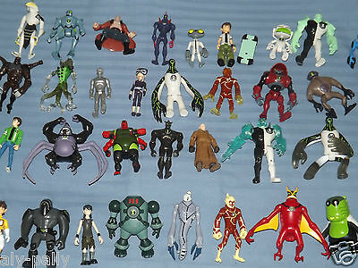 "RARE BEN TEN 10 CHARACTERS ACTION FIGURES SMALLER 4"" TOYS free uk postage"