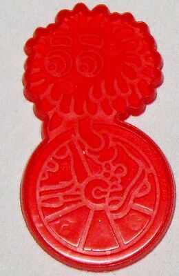 "Red 3 1/2"" BIG Bird on Unicycle Cookie Cutter Art Mold"