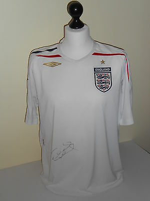 England Hand Signed Frank Lampard Shirt Very Rare.