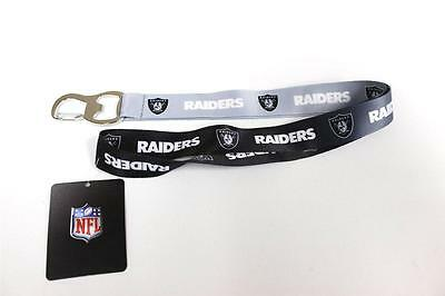Official Licensed NFL Two-tone Ombre Lanyard **Oakland Raiders** Keychain