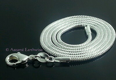 1 x 925 STERLING SILVER 1mm SNAKE CHAIN 610 mm Wicca Pagan Witch Goth