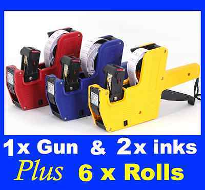Price Pricing Gun Labeller 5xFREE Rolls Label Spare Ink
