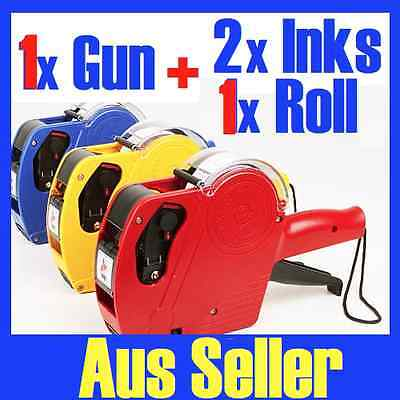 1 x Price Pricing Gun Labeller +1 Roll Labels + 2 x Inks NG11N