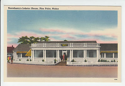 Snowberry Lobster House Pine Point Scarborough Maine ME Old Postcard Vintage