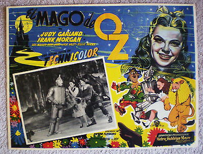 Rare Vintage Wizard Of Oz Mexican Lobby Card From 1939