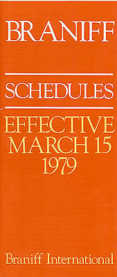 Airline Timetable - Braniff - 15/03/79