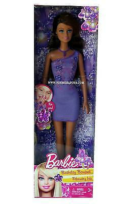 Barbie February Iris Birthday Bouquet Doll