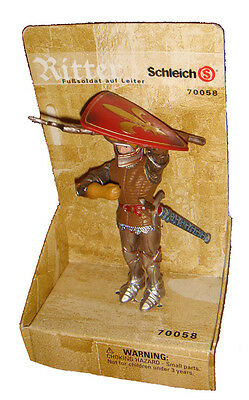 Schleich 70058 Foot Soldier Knight with Shield Model Toy Figurine - NIP