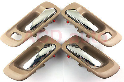 Fit For 98-02 Honda Accord Inside Door Handle Front Rear Left Right 4PCS NEW