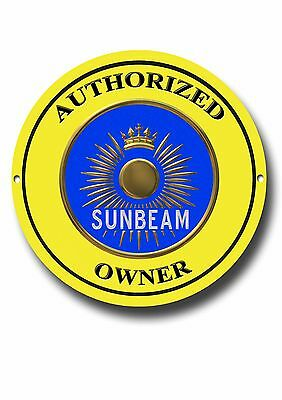 Sunbeam Authorized Owner Enamelled Metal Sign.classic British Cars.