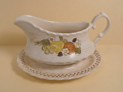 Metlox Vernon Ware  Gravy Boat with attached Underplate Fruit Basket