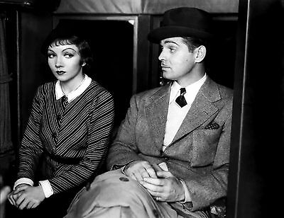 "Clark Gable Claudette Colbert It Happened One Night 8x10"" Photo #E29"