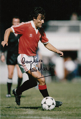 Manchester United Hand Signed Lou Macari Photo 12x8 5.