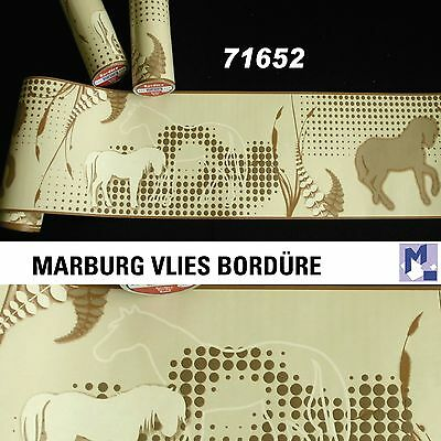 SALE ! Bordüre Tapetenborte Marburg 71652 PFERDE 5m Borte Vlies