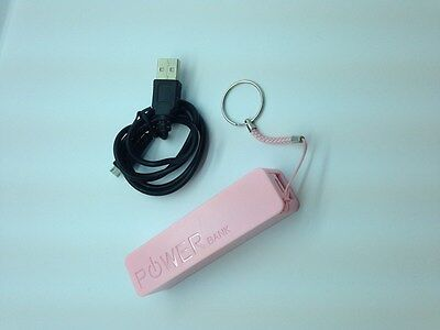 Lot 4 New Universal Perfume Power Bank External Battery Charger 1800 Mah Pink