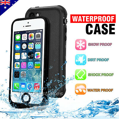 Waterproof Snowproof Heavy Duty Tough Hard Case Cover for Apple iPhone 5S SE 5