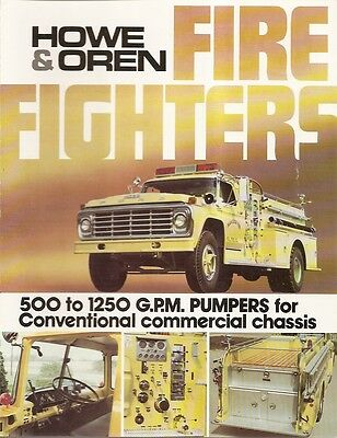 Fire Equipment Brochure - Howe & Oren - Pumpers for Conventional Chassis (DB21)