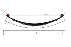 """Pro Comp Suspension 11511 Single 6"""" Lift Front Leaf Spring for 73-91 Chevy/GMC"""