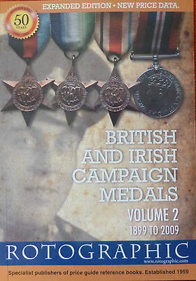 BRITISH & IRISH CAMPAIGN MEDALS Volume 2 1899 to 2009 - Reference & Price Guide