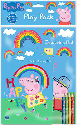 Peppa Pig George Play Pack A4 Colouring Book & A5 Pad With Colour Pencils Peppk