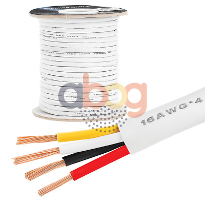 Speaker Cable 14AWG 100 Feet In-Wall CL2-Rated Four-Conductor