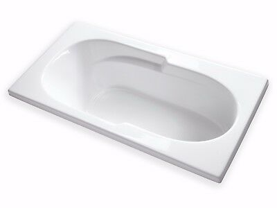 "Carver Tubs AR7136 71"" x 36"" Drop-In White Acrylic Bathtub 6 Foot Long"