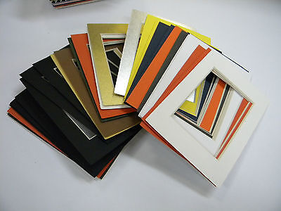 Picture Frame Mat 3.5x5 for 2.5x3.5 ACEO Sport photo set of 20 mixed colors