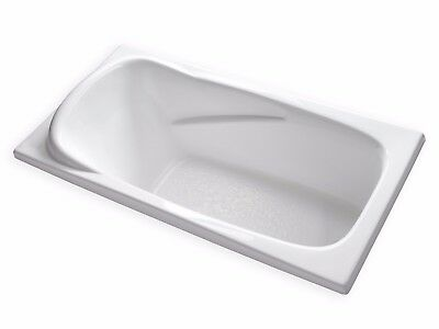 "Carver Tubs AT7135 71"" x 35"" Large Soaking Bathtub with Built In Headrest"