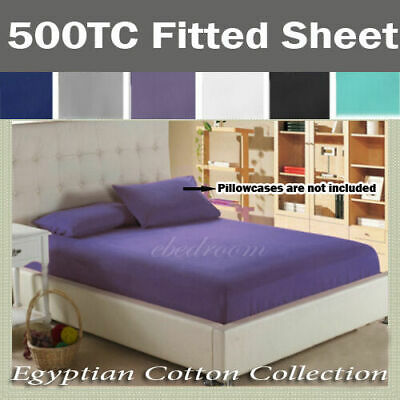 Brand New 500TC Egyptian Cotton Fitted Bottom Sheet Double/Queen/King
