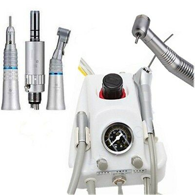Dental Portable Turbine Unit  4 Hole High Low Speed Handpiece