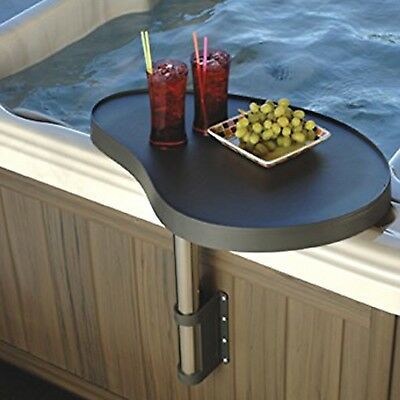 Essentials Spa Caddy Tray Hot Tub Table Bar with Attachments Swings over Hot Tub