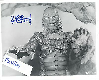 Ben Chapman Creature from the Black Lagoon bw Autographed Signed 8x10 Print COA