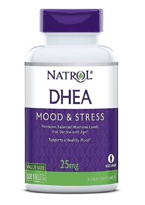NATROL - Dhea 25 mg Helps Support Overall Health High Quality - 300 Tablets