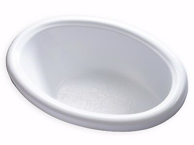 Carver Tubs DJO 5839 Oval Soaking Bathtub Acrylic White Bath Tub