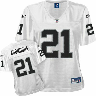 NFL Damen/Ladies Football Premier Trikot/Jersey OAKLAND RAIDERS Asomugha #21 wht