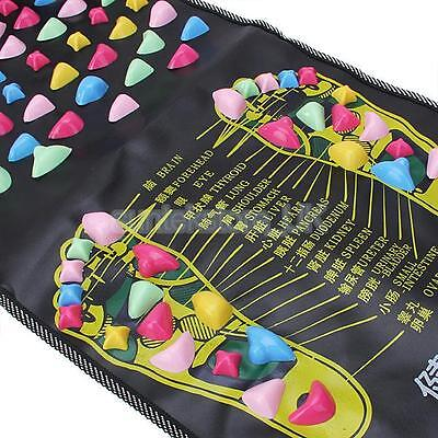 Chinese Reflexology Walk Stone Foot Leg Massager Mat Pad Cushion Health Care