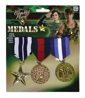 Combat Hero Medals Army Military BRITISH Soldier G.I Fancy Dress Accessories