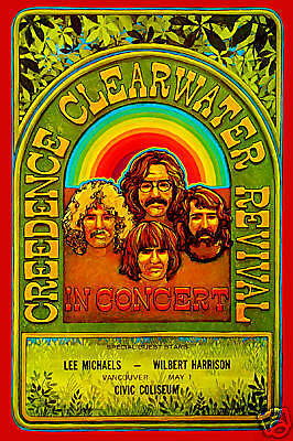 1970's Rock: John Fogerty & Creedence Clearwater Revival  Canada Poster 1970