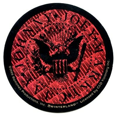 THE RAMONES round eagle flag STICKER **Free Shipping** red window bumper- S-0619