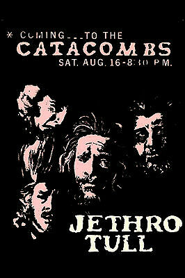 Hard Rock: Jethro Tull at The Catacombs in Houston Texas Concert Poster 1969