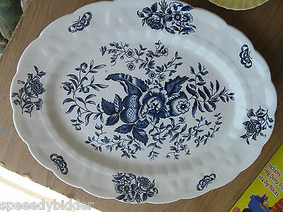 "BOOTHS Vintage ""Peony"" A8021 Platter 16"" (made in England)"